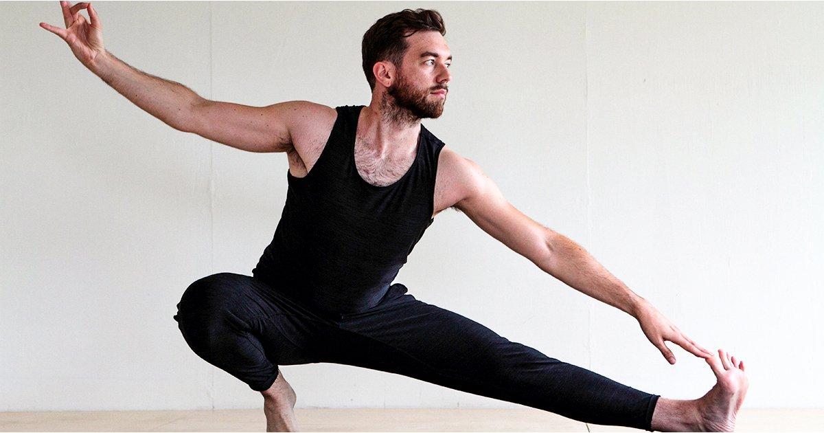 nude male yoga pose