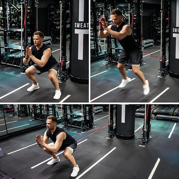 Real workout: Resistance band exercises for leg day