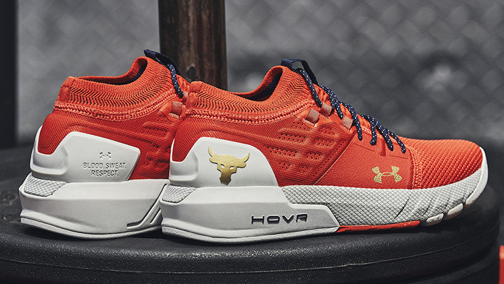 Step into the gym wearing the Rock's new training shoes