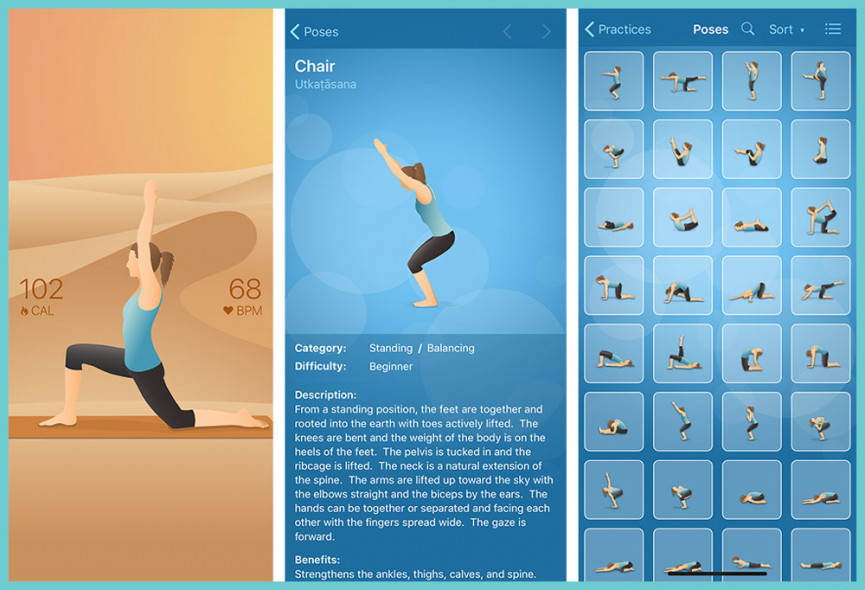Yoga apps to use in your at-home practise