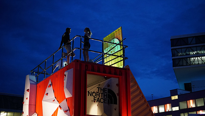 Free climbing in London from North Face