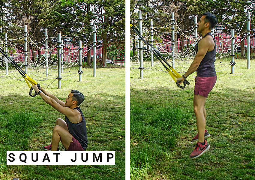 TRX workout for lower body