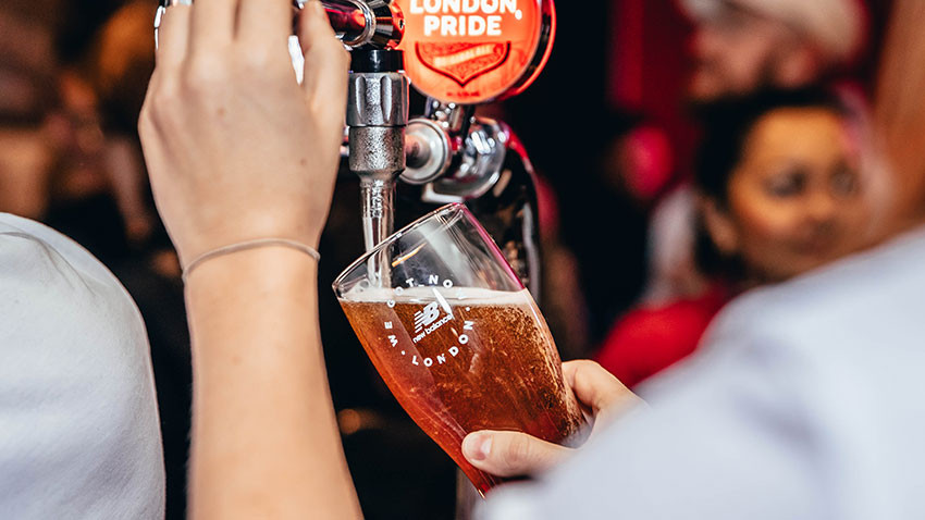 Swap training miles for pints at the New Balance Runaway pub