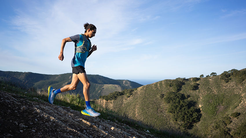 This giant Hoka One One shoe is designed for downhills
